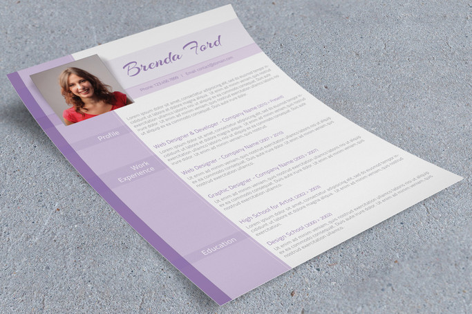 Purple Resume Design