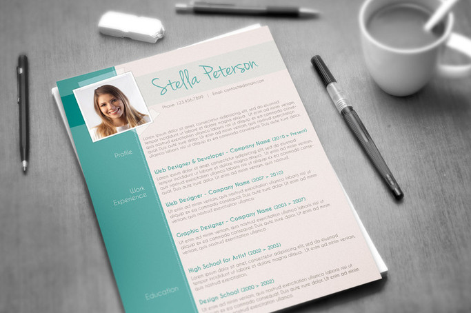 modern resume template fancy cv layout - Fancy Resume Templates