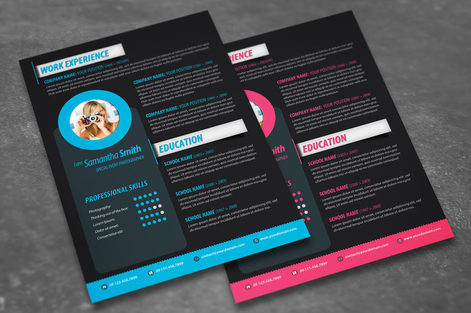 2 colors - modern resume design