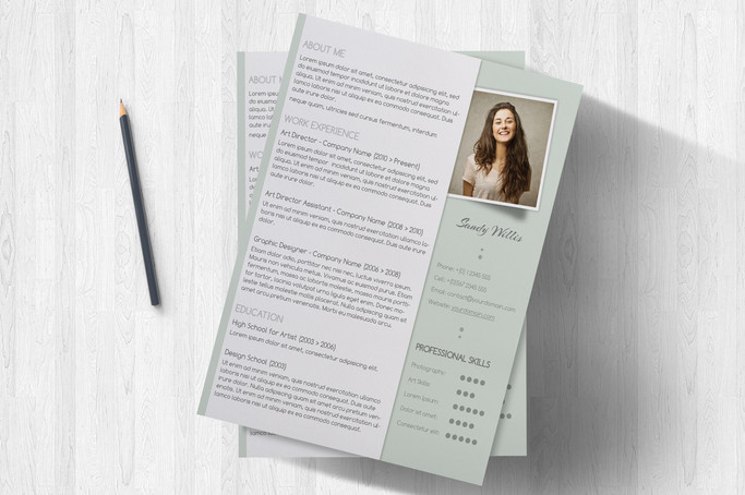 a clean resume and cover letter set coriander herb
