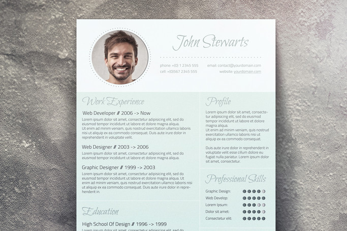 a unique resume and cover letter combo - Fancy Resume Templates