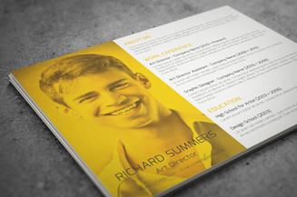 Yellow Landscape Resume