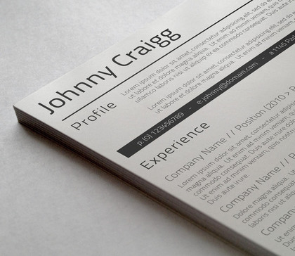 Resume Templates Requirements
