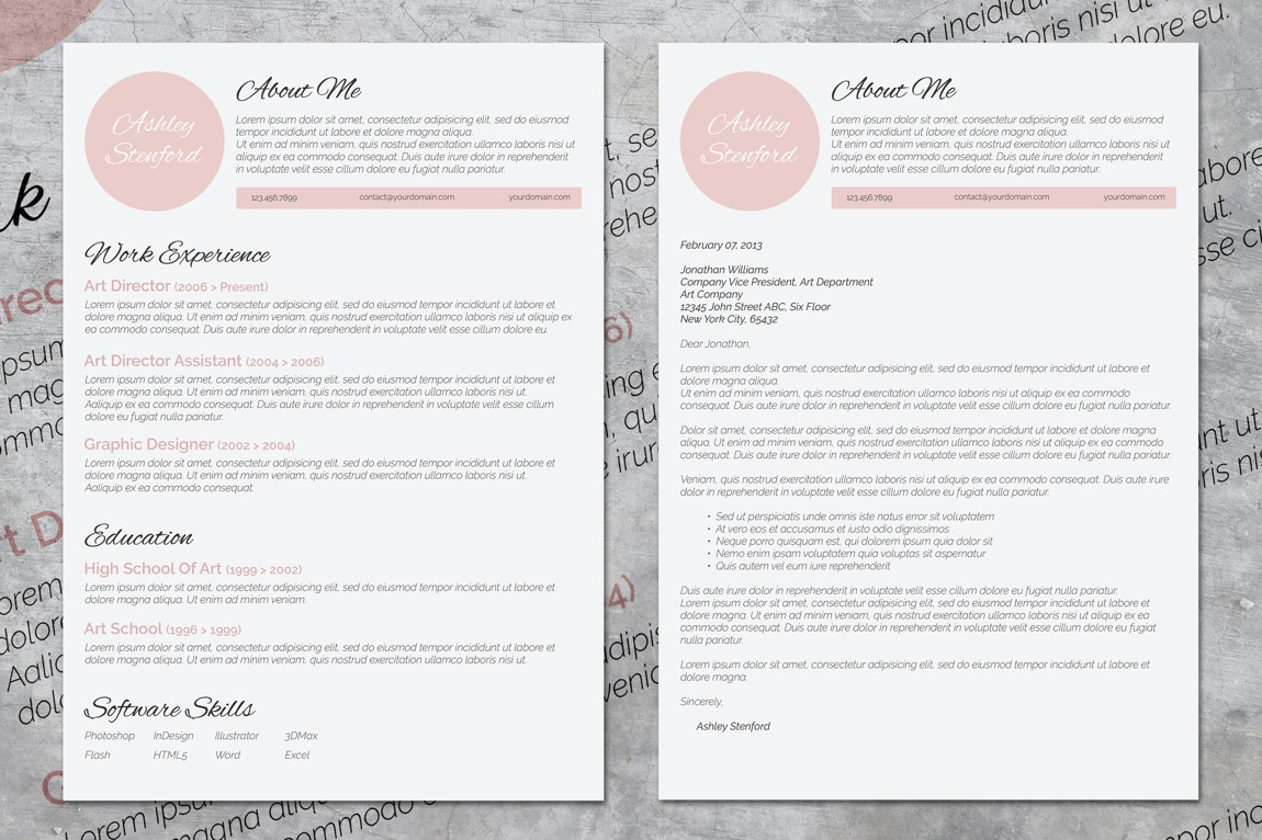 10 Creative Word Resumes + 10 Matching Cover Letters